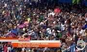 Fiéis lotam estádio em São José para celebrar o Cerco de Jericó