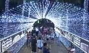 Iluminação de Natal é inaugurada na Praça da Liberdade, em BH