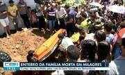 Enterro da família morta em Milagres