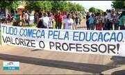 Professores de Formoso do Araguaia paralisam atividades e fazem protesto