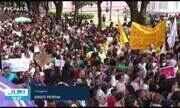 Manifestantes fazem ato em prol da Amazônia