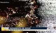 Moradores denunciam vazamento de água em Goiânia
