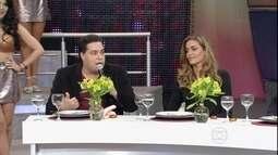 Tiago Abravanel e Ana Beatriz Barros conversam com Faustão sobre o 'Dança'