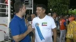 Joel Santana prestigia desfile da Beija-Flor