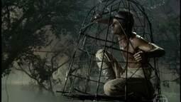 Por ciúme, Quirino faz armadilha e prende o pássaro que encanta Maria
