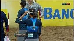 Os pontos finais de Duda/Elize Maia 2 x 0 Ângela/Rachel pelo Circuito de Vôlei de Praia