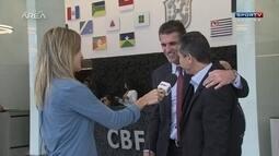 Vagner Mancini encontra Jorginho e parabeniza treinador por trabalho no Vasco