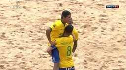 Brasil goleia Paraguai no futebol de areia e conquista sul-americano