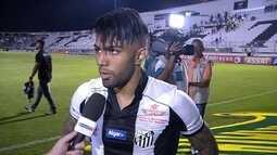 Autor de um gol e uma assistência, Gabriel elogia atuação do Santos