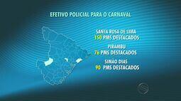 Cerca de 2.200 policiais vão trabalhar na segurança do carnaval