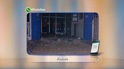 Criminosos explodem agência bancária em Piedade