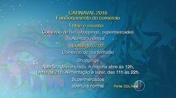 Confira o funcionamento do comércio durante o carnaval em Natal