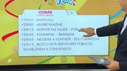 Confira a programação de carnaval na noite desta sexta no circuito Campo Grande