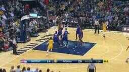 Confira os melhores momentos de Detroit Pistons 104 x 112 Indiana Pacers pela NBA
