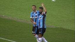 O gol de Grêmio 1 x 0 Coritiba pela 2ª rodada da Primeira Liga