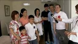 Famílias comemoram a chegada do Ano Novo Chinês na Liberdade, em SP