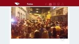 Foliões se divertem no carnaval de Santa Leopoldina, ES
