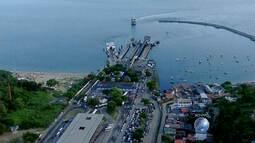 Veja imagens do sistema ferry boat na Ilha de Itaparica