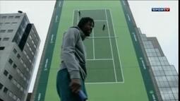 Monfils participa de evento curioso de tênis no ATP de Roterdã