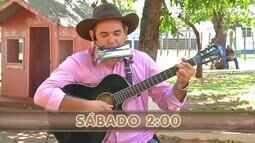 A dupla Marcos e Adriano anima o sabadão do Meu Mato Grosso do Sul