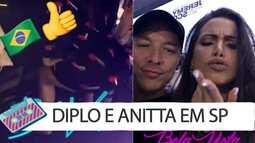 Diplo dança funk com Anitta, 'curte' bumbum e faz vídeos; assista