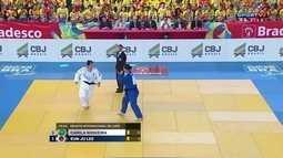 Desafio de Judô Brasil x Coria: Camila Nogueira perde para Eun-Ju Lee