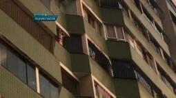 Criança em janela de prédio de Taguatinga deixa vizinhos assustados