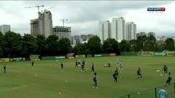 Fabrício treina pela primeira vez com elenco do Palmeiras