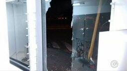 Vitrines de loja são destruídas durante furto em Bauru