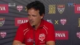 Fernando Diniz analisa empate com o Santos na primeira partida da final do Paulista