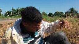 Motociclista arrisca vida em Serra do Mangaval