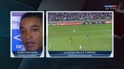 Roger Machado analisa momento do Grêmio após vitória sobre o Atlético-MG