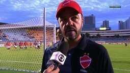"""Rogério Mancini lamenta derrota nos acréscimos: """"Jogo acaba quando o juiz apita"""""""