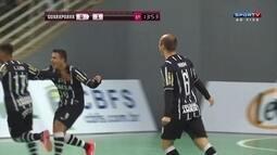 Os gols de Guarapuava 1 x 2 Corinthians pela Liga Nacional de Futsal