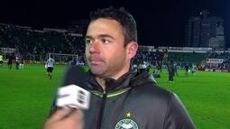 Juan diz que a atuação do Coritiba melhorou comparado com os últimos jogos