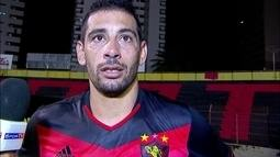 Empolgado com goleada, Diego Souza afirma que Sport vem crescendo no Brasileirão
