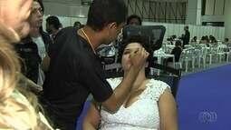 Feira de beleza é realizada no Centro de Convenções, em Goiânia