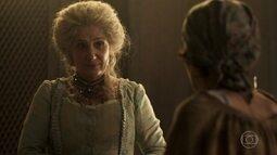 Alexandra paga Santuza para manter segredo sobre a situação de Branca