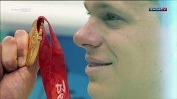 Relembre o ouro de César Cielo nos 50 metros livre em Pequim 2008