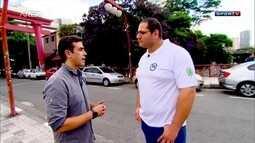 Alexandre Oliveira entrevistas judoca Rafael Silva, o Baby, no bairro da Liberdade