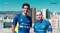 Amigos, Marcelo Melo e Bruno Soares mostram entrosamento dentro e fora de quadra