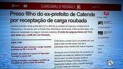 Preso filho do ex-prefeito de Catende por receptação de carga roubada