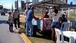 Polícia fiscaliza comércio ambulante para partida entre ABC e América-RN