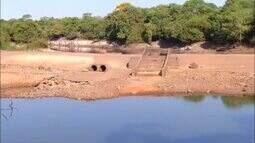 Rio Urubu, no oeste do Tocantins, sofre com o longo período de seca