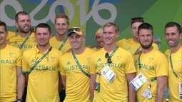 Depois das críticas às instalações, australianos voltam à Vila Olímpica