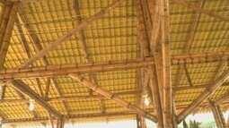 Espaço na Expoacre mostra técnicas para utilização do bambu