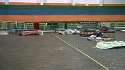 Ginásio abriga moradores de rua em Jaú