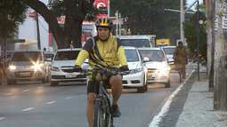 A difícil relação entre motoristas e ciclistas no trânsito da capital - bloco 1