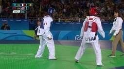 Atleta dos Estados Unidos vence francesa e conquista o bronze no taekwondo feminino +67kg