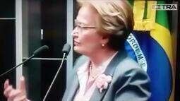 Senadora comete série de gafes em homenagem e confunde Neymar com Romário